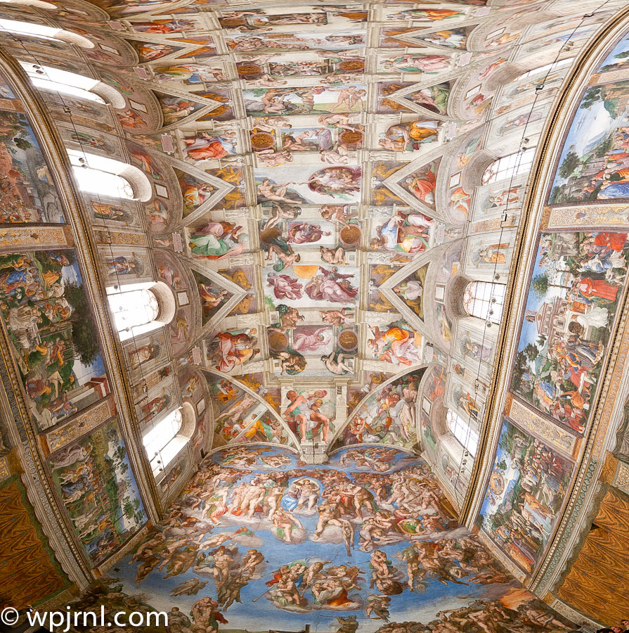 paintings inside of the sistine chapel made by